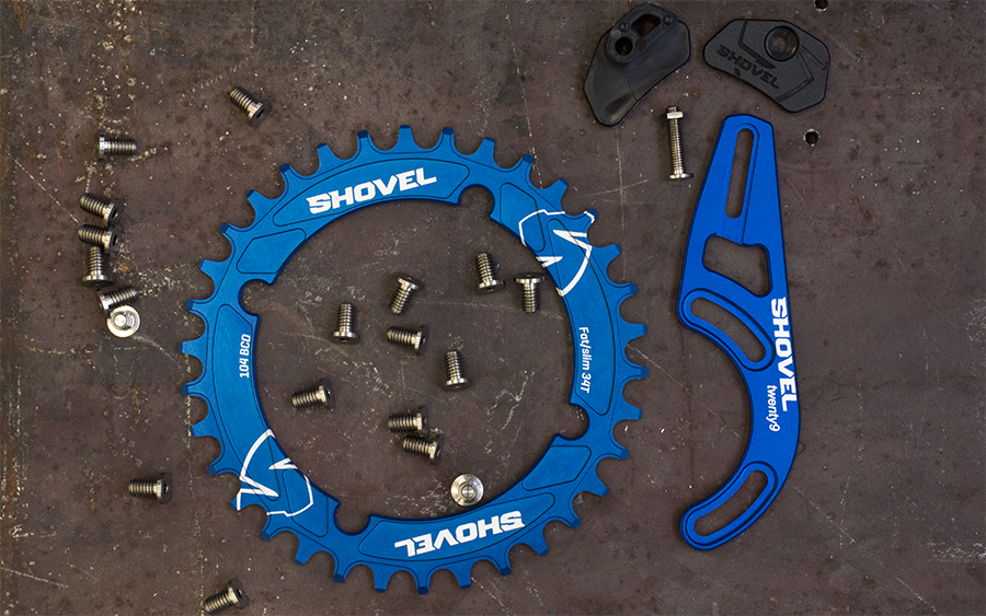 Shovel Components chainring 104 bcd